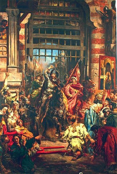 Boleslaw Chrobry entering Kiev by Jan Matejko