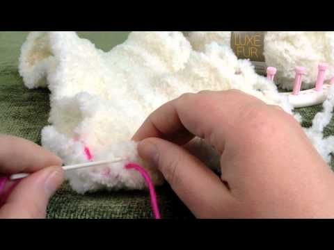 Stitch or Sew: Loom Knit Panels Together Invisible Seam for Blanket or scarf ...