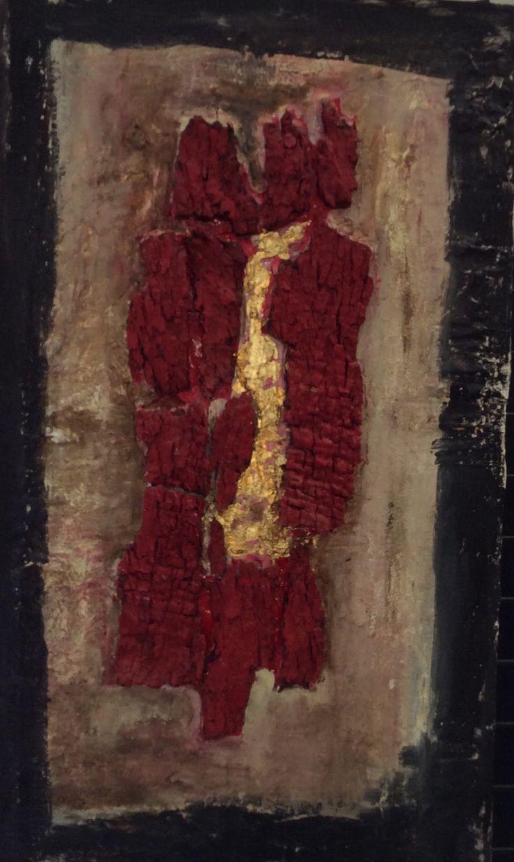 Il tuo cuore e' un albero antico.  Tecnica mista su tela 60x40