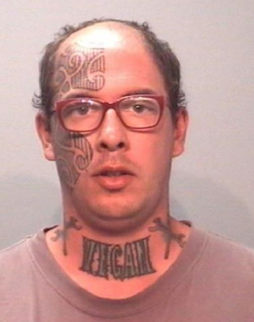 First why would you get a tat there?! You can only cover it up with a turtleneck! Second, vegan?!?! Really?
