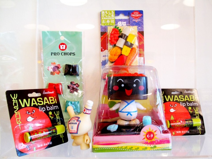 Wasabi lip balm anyone?     Check out our funky toys at the restaurant