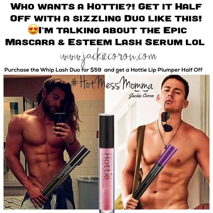 💥🔥💥🔥💥🔥💥🔥💥🔥💥🔥💥🔥 I'm giving a Hottie Lip Plumper Half Off to anyone who purchases the Whiplash Duo, or any other Lash Duo or Trio thats already been discounted! Click on the pic to get yours today!   💋This hot sizzling deal is only good this month with me, so get your hottie asap! You can also get a set of 3 for $64, or a single Hottie for $27.  #Hottie #Lip #Plumper #Epic #Mascara #Esteem #Lash #Serum #ChanningTatum #BrockOHurn #FunnyMeme