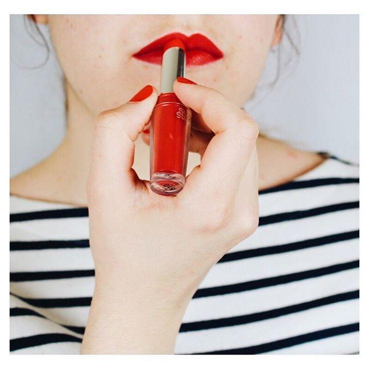 Look du jour : Bouche rouge  & marinière  @bdcbleblog
