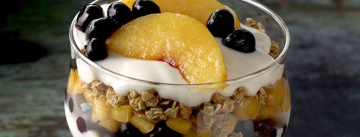 Peach and Blueberry Parfait