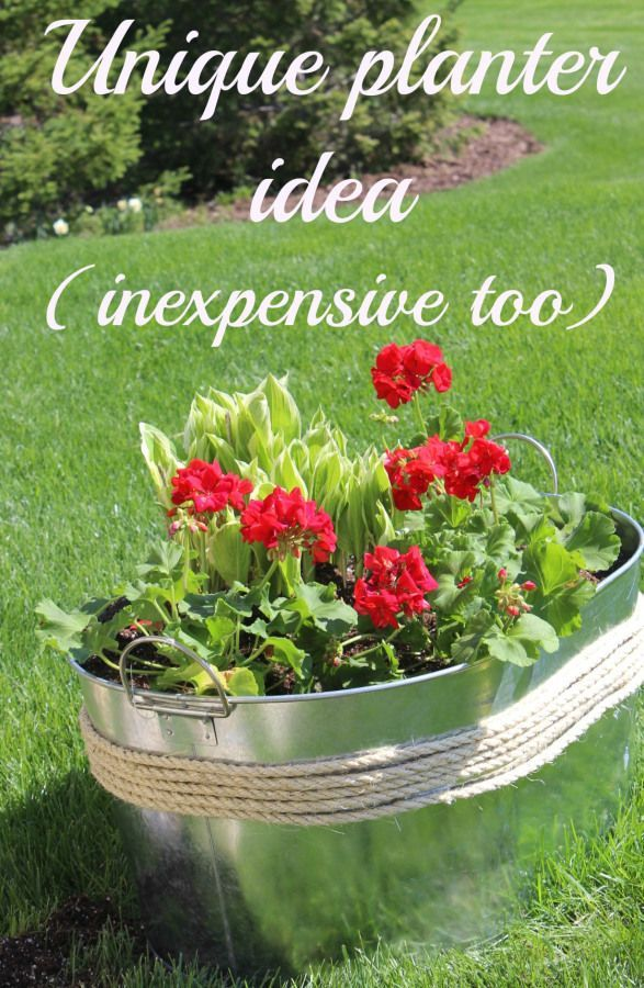 Unique planter idea  inexpensive too    Large Planter IdeasFunky. 1000  images about Container Garden Ideas on Pinterest   Window