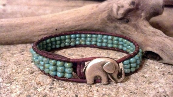 Elephant GOOD LUCK Leather Wrap Bracelet