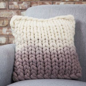 Diptford Dip Dyed Panel Cushion - patterned cushions
