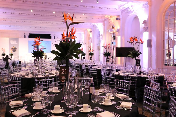 Beautiful Flower Arrangements for the Fashion Future Awards