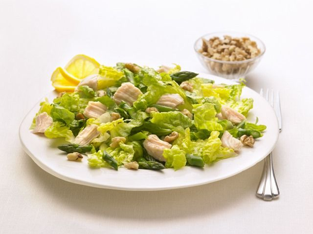 Here is an Asparagus Chunk Chicken Salad recipe perfect for mid summer.