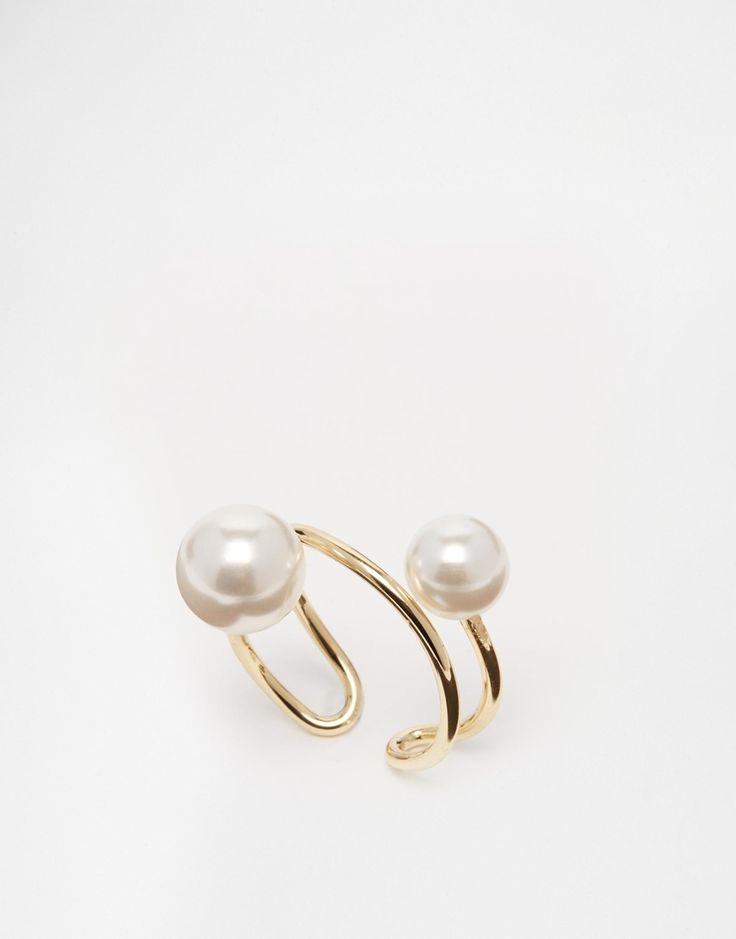 ASOS Spiral Faux Pearl Ring