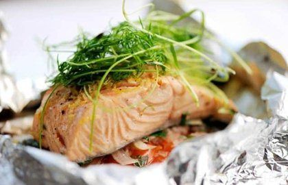 ... Meals in parchment paper on Pinterest | Salmon, Halibut and Sea bass