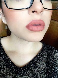 NYX Stockholm soft matte lip cream + Mac Spice lip liner. Stephbusta1 on Instagram