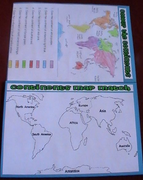 Continents & Oceans Lapbook « Seek Knowledge From The Cradle To The Grave