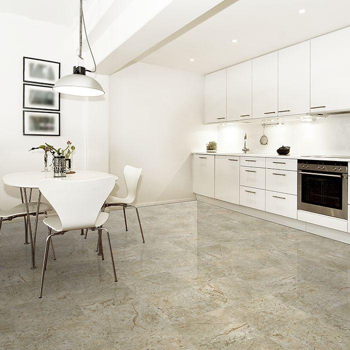 Piso de mármol color Beige, modelo Maya. Dale ese toque de elegancia a tu hogar con un piso de mármol en colores neutros.