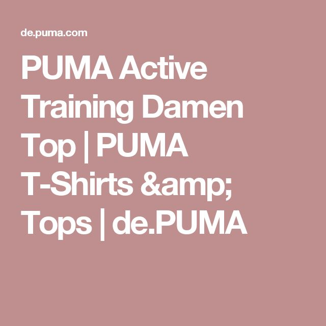 PUMA Active Training Damen Top | PUMA T-Shirts & Tops | de.PUMA