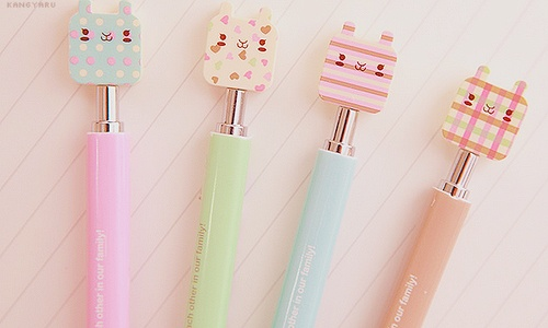 Cute pastel, asian cat stationary