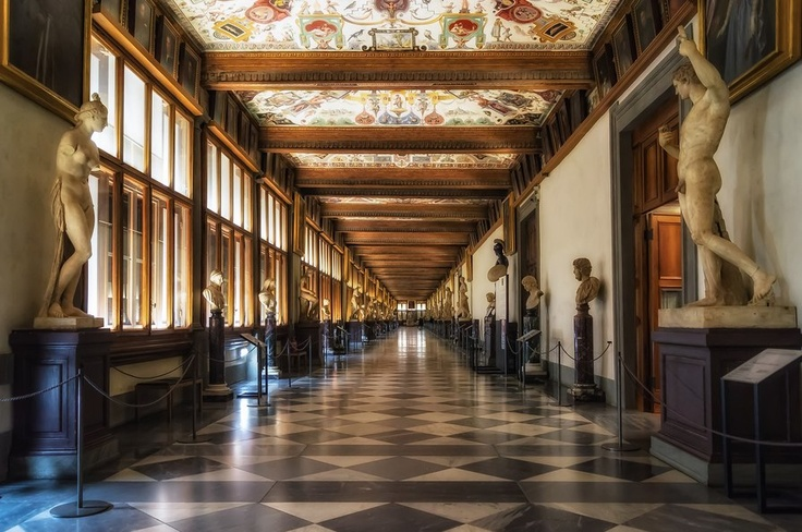 Galleria degli Uffizi - FIRENZE    Dreams to come to Tuscany?  Click LIKE on page www.facebook.com... pinned with Pinvolve