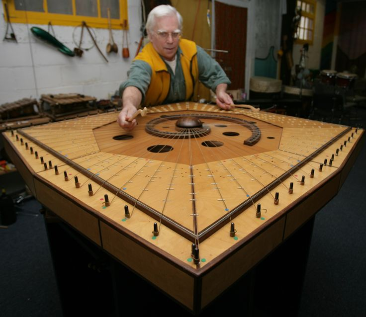 Robin Armstrong playing the Celestial Harp