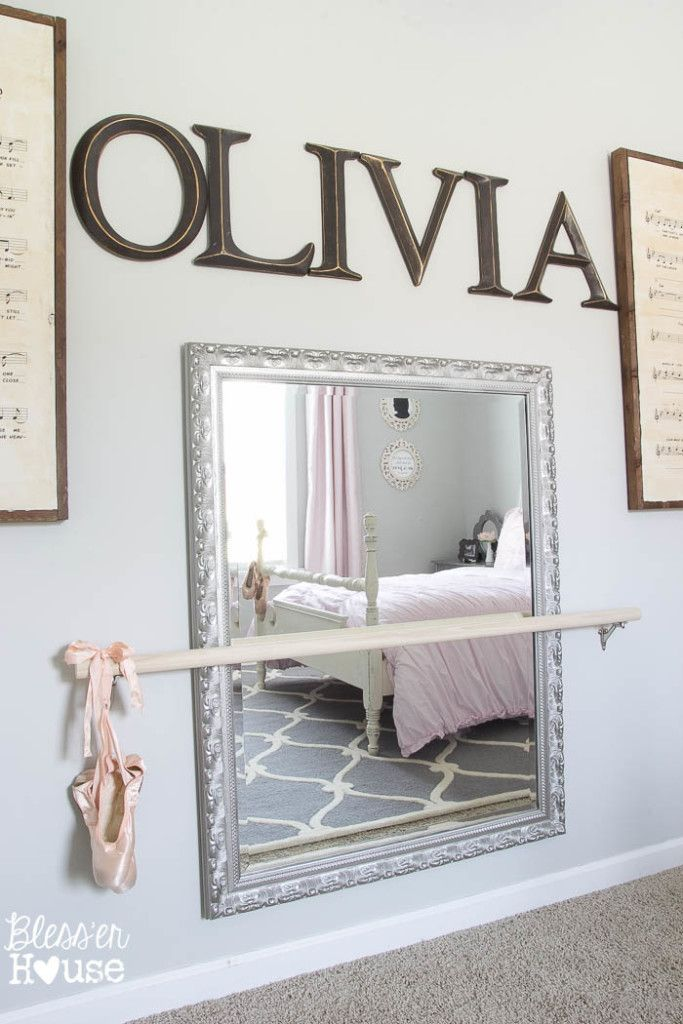 Ballerina Girl Bedroom Makeover Reveal | Bless'er House - Such a sweet space on a budget! @blesserhouse