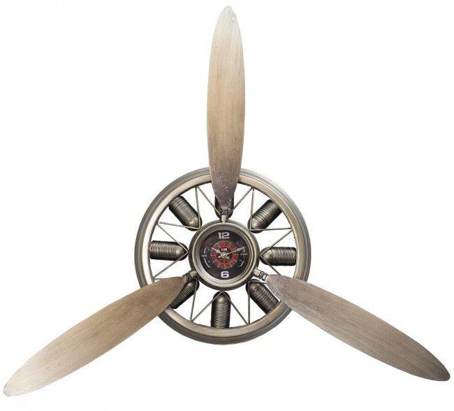 Stunning Metal Radial Aeroplane Plane Engine Propeller Wall Clock Chrome Propeller Wall Chrome Wall Clock Wall Clock