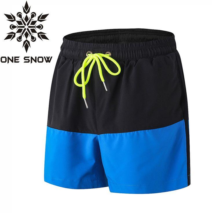 ONE SNOW New Men Swimwear Swim Shorts Beach Board Shorts Swimming Short Pants Swimsuits Mens Jogger Running Sports Shorts Surf