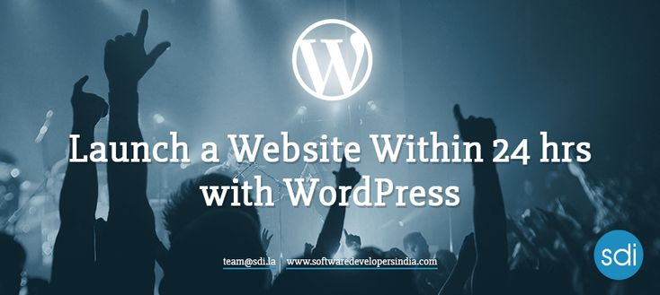 Launch a Website within 24 Hours with Wordpress