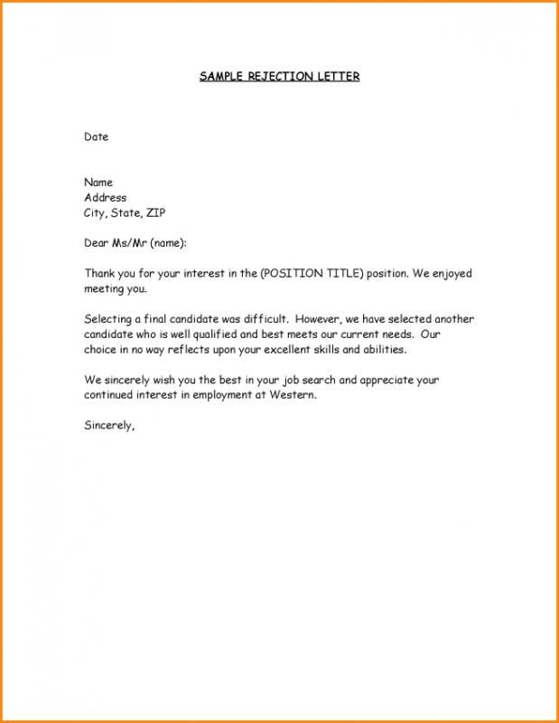 Interview Candidate Rejection Letter from i.pinimg.com