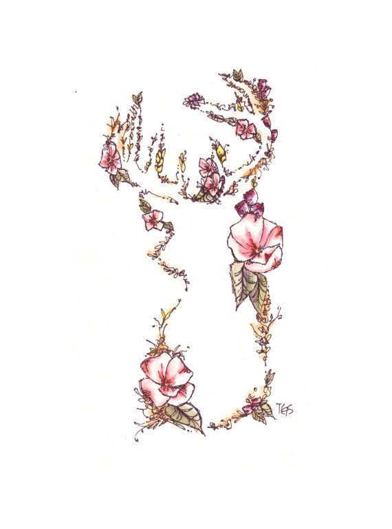 Illustrative Watercolor Floral Giclee Print by artsypastel, $12.00