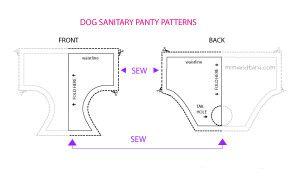 patrones libres braga higiénica para perros