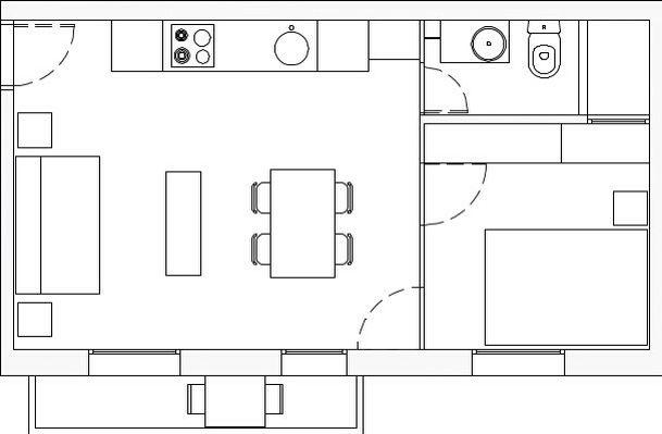 Barceloneta apartment refurbishment, floor plan