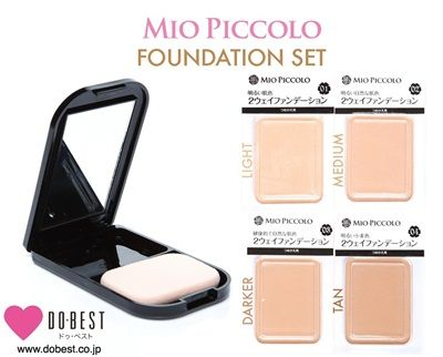 MIO PICCOLO Flower Two-Way Foundation Set (Case + Refill)