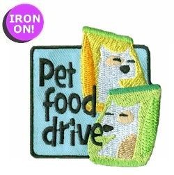 Help out our furry friends by running a food drive for pets. This Girl Scout Fun Patch is only $.69 from PatchFun.com