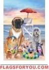 Lifeguard Dogs Garden Flag