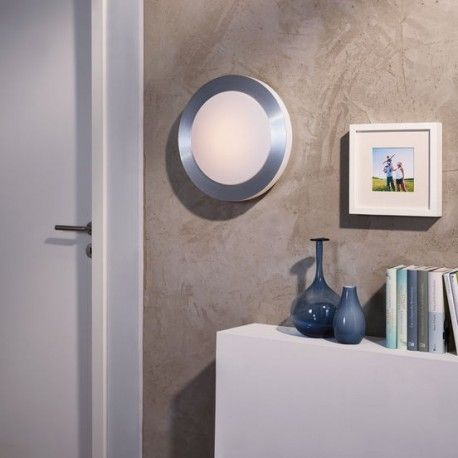 Απλίκα - πλαφονιέρα μπάνιου LED CARPI αλουμινίου λευκή