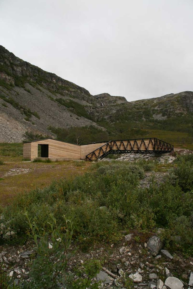 Lillefjord Rest area and footbridge in Norway by Pushak