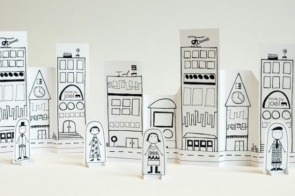 Free downloadable Paper City // Imprimible gratis de ciudad