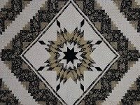 Lone Star Log Cabin Quilt — magnificent made with…