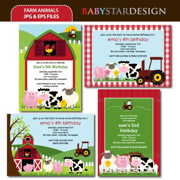 These adorable invitation templates are perfect for birthday party invitations, thank you cards, scrapbooking and many more!  Great for offering at Zazzle type of websites.