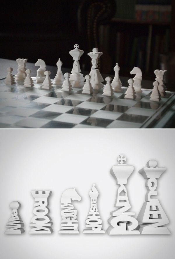 Un jeu d'échecs typographique