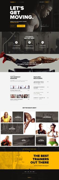 Web, flat, sporty, bold typography, traditional one page, call to action, buttons, web design more motivation @ https://www.facebook.com/actionalways