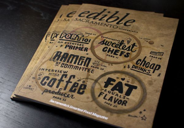 Edible Magazine Cover by KYLE MARKS