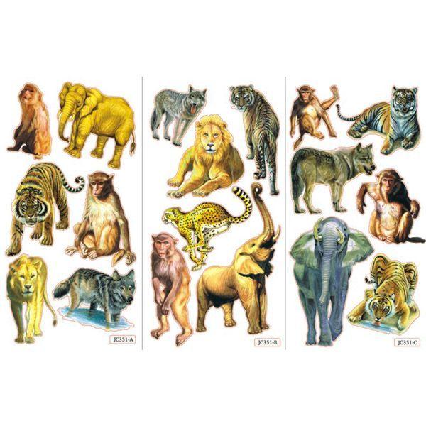 Stickers med vilde dyr i flotte farver til børn fra sjovogkreativ.dk