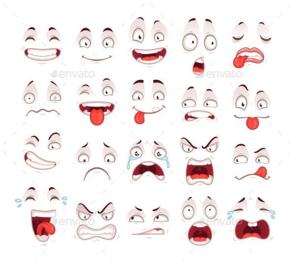 Cartoon Faces Scared Face Cartoon Expression Cartoon Faces