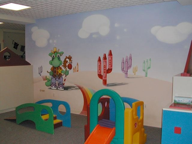 8 best creche mural ideas images on pinterest mural for A perfect day mural