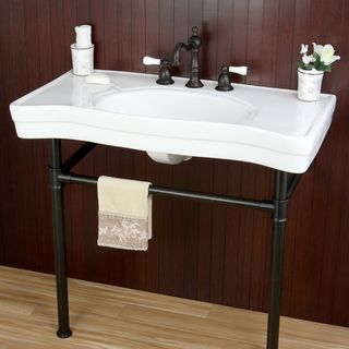 36 Pedestal Sink : ... Vintage 36-inch Oil Rubbed Bronze Pedestal Bathroom Sink Vanity