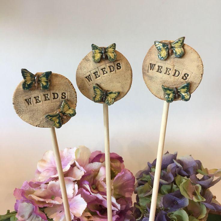 Set of 3 cane topper, garden planter, garden ornaments, garden ornament, cane tops,cane toppers, garden stick toppers, garden planters – Craft Trends on Pinterest