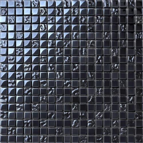30x30cm Black Iridescent Glass Mosaic Tiles Sheet (MT0098)
