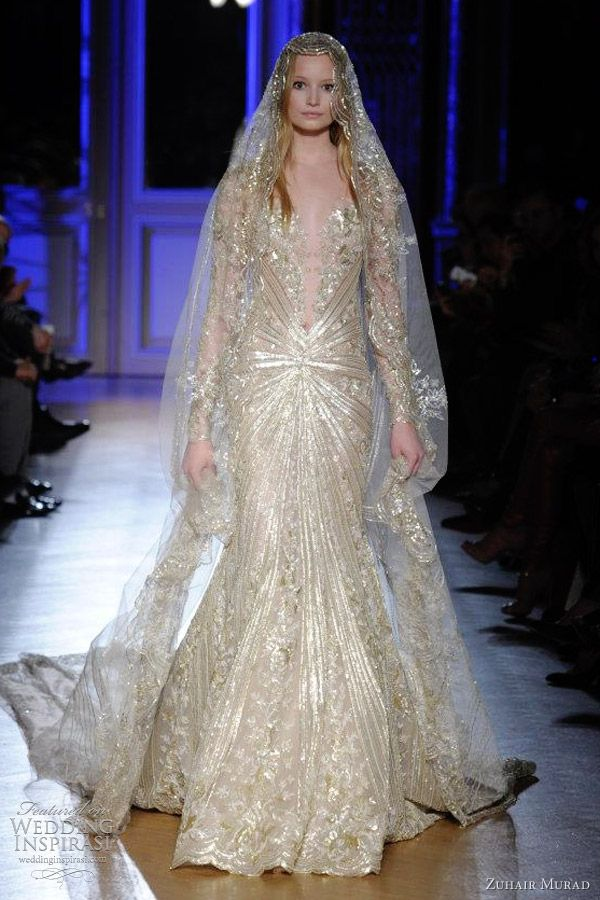 Zuhair murad spring summer 2012 couture wedding sleeve for Zuhair murad wedding dress