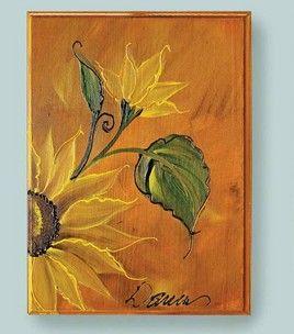 FolkArt Sunflower Plaque: Decorative Paint: General Craft Projects: Shop | Joann.com