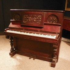 1000 images about antique upright pianos on pinterest for Small upright piano dimensions